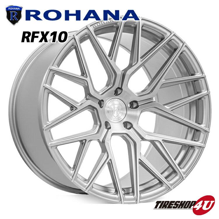 ROHANA RFX10 20×11 5/130 +48 ブラッシュドチタニウム ロハナ 新品アルミホイール1本価格