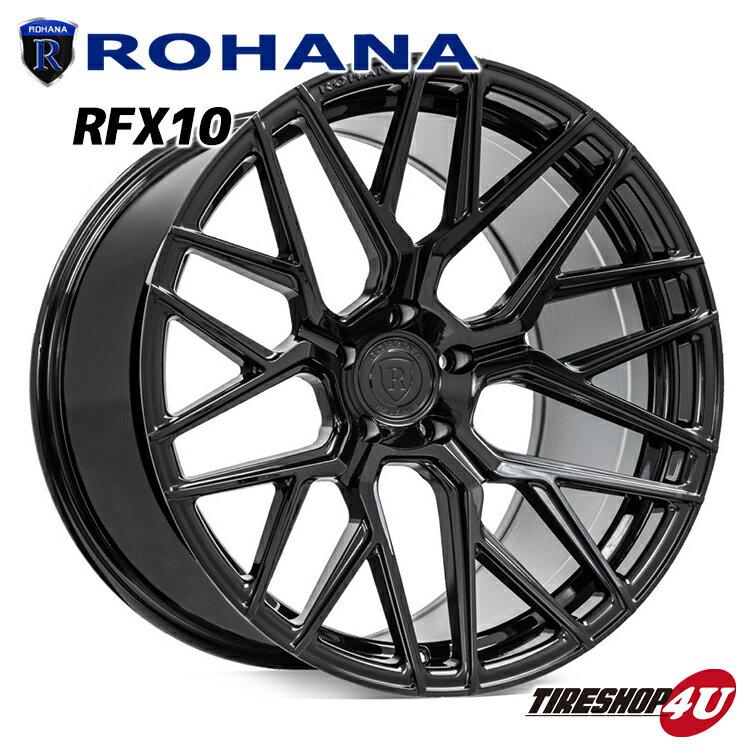 ROHANA RFX10 21×10.5 5/120 +20 グロスブラック ロハナ 新品アルミホイール1本価格