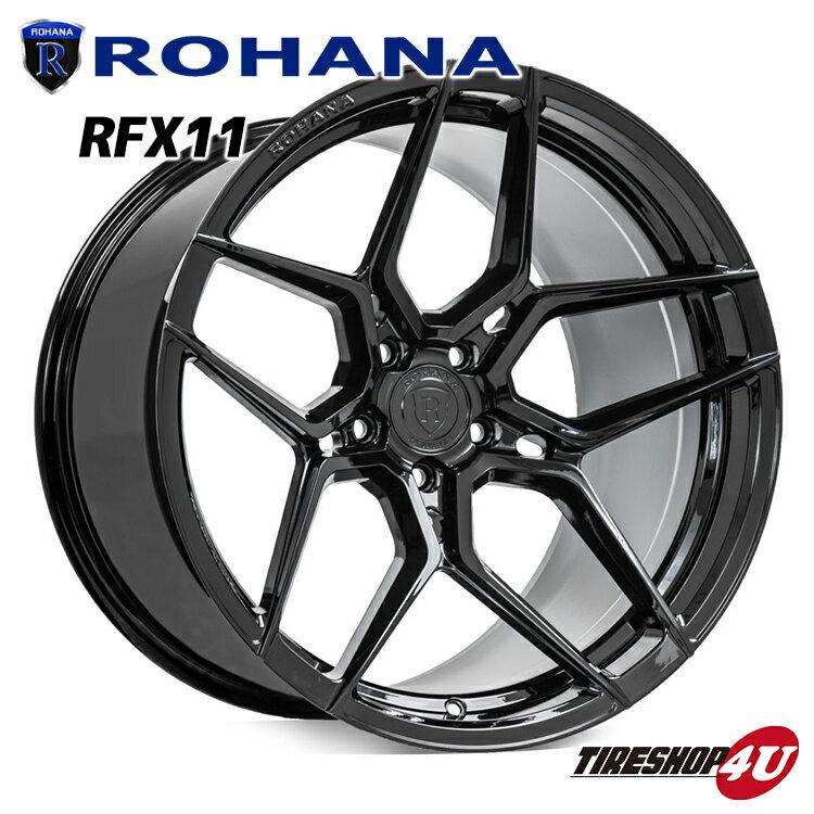 ROHANA RFX11 22×10.5 5/130 +40 グロスブラック ロハナ 新品アルミホイール1本価格