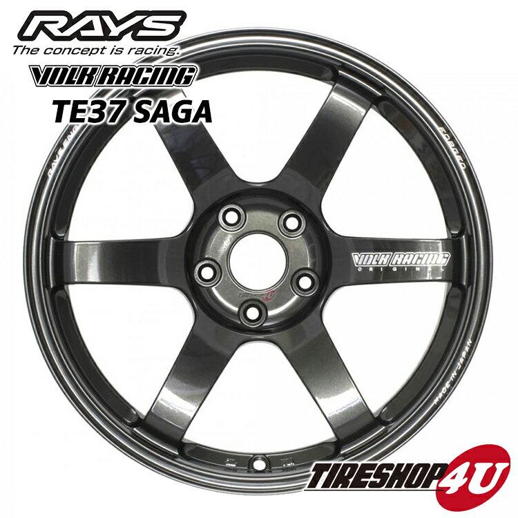 18インチRAYS VOLK Racing TE37SAGA 18×9.5J 5/100 +43MM(ダイヤモンドダークガンメタ) レイズ ボルクレーシング TE37 サーガ 鍛造 新品アルミホイール1本価格 FACE-3