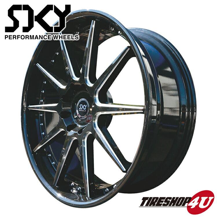 26インチ SKY PERFORMANCE WHEELS 26×10.0J 6/139.7 +35 ブラック スカイ パフォーマンス ホイール 当社指定輸入タイヤ 295/30R26 新品タイヤホイールセット4本価格 エスカレード