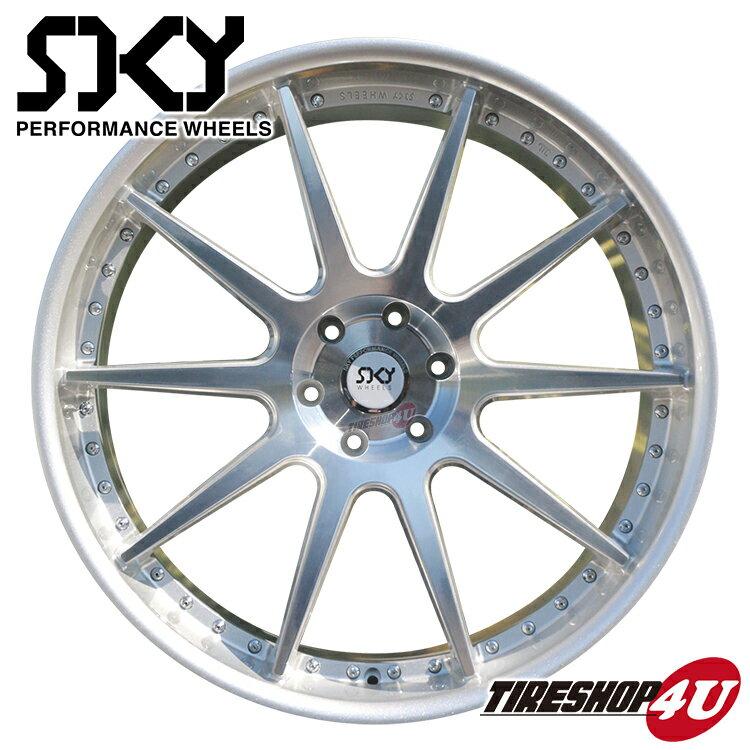 26インチ SKY PERFORMANCE WHEELS 26×10.0J 6/139.7 +35 シルバー スカイ パフォーマンス ホイール 当社指定輸入タイヤ 295/30R26 新品タイヤホイールセット4本価格 エスカレード