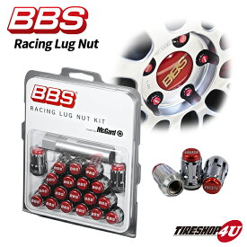 BBS ビービーエス 正規品 レーシングラグナット レッド M12 P1.5 P1.25 マックガード社製 ホイールナット レーシングナット Racing Lug Nut(Red) LGM15R LGM125R McGard