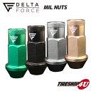 新商品 DELTA FORCE MIL NUTS M12X1.5 19HEX 4個入り デルタフォース ミルナット 選べる4カラー 軽量アルミナット 高…