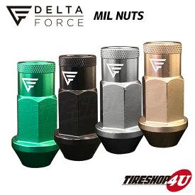5穴用 20個セット DELTA FORCE MIL NUTS M12xP1.5 M12xP1.25 19HEX 4個入り デルタフォース ミルナット 選べる4カラー 軽量アルミナット 高強度 貫通タイプ ナット ジュラナット