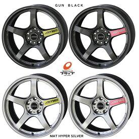 共豊コーポレーション トレーサー GT-V フロント18x11.0J+15 5-114.3 2本 GUNBLACK 軽量 ENKEI-MAT 国産 スカイライン GT-R R34