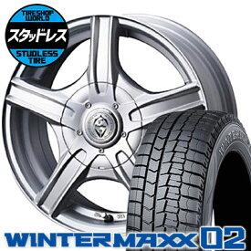205/60R15 91Q DUNLOP ダンロップ WINTER MAXX 02 WM02 ウインターマックス 02 Treffer MH トレファーMH スタッドレスタイヤホイール4本セット
