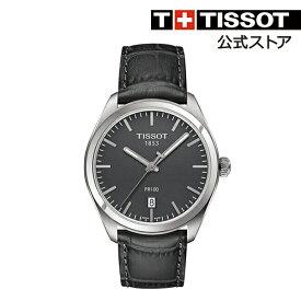 1a21f9f4b8 TISSOT 腕時計 ティソ 公式 メンズ ピーアール100 クオーツ ブロンズ文字盤 レザー 【 時計 レザーベルト