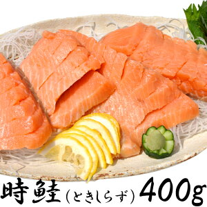 北海道知床半島沖産時鮭(ときしらず)刺身400g希少サーモン 瞬間冷凍【ギフト対応】