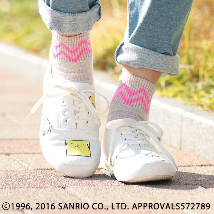 ポムポムプリンスニーカー pnzfwccd7905 / チチカカ公式 TITICACA シューズ 靴 ローカットスニーカー サンリオ SANRIO コラボ キャラクター 白地 キャンバススニーカー
