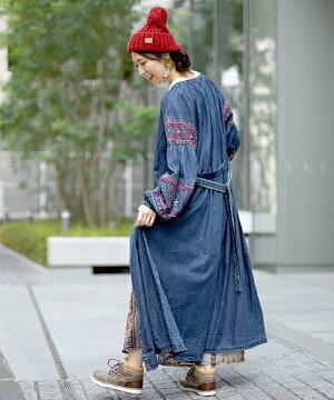 ナバホクロス刺繍ワンピース
