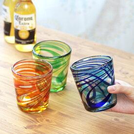 グラス メキシコグラス ロックグラス コップ ガラス クリア おしゃれ 夏 秋 エスニック アジアン ネイティブ チチカカ公式 TITICACA / メキシコマーブルグラス zhsmb2417