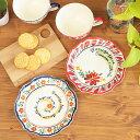 【SALE】 プレート お皿 皿 陶器 メキシコ 取り皿 小皿 ケーキ皿 フラワー かわいい プレゼント 贈り物 ギフト エスニ…
