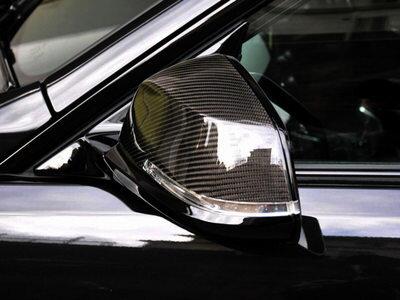 BMWE84F20F30F32用交換タイプカーボンファイバーサイドミラーカバー【___OCS】