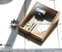 9180-0001 木製 ディスプレイケース コレクションケース ガラスケース ショーケース 小物入れ アクセサリーケース アクセサリー入れ ビンテージ レトロ ふた付き 卓上 斜め 9180 0001