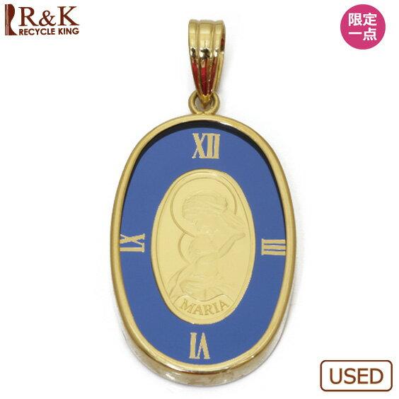 【中古】【送料無料】K18枠 コインペンダント スイス・パンプ社 マリア 1g インゴット(純金) 時計枠 ペンダントトップ(トップのみの販売です。チェーンは非付属)18金 24金 ゴールド 18K 24K レディース 女性 メンズ 男性 金貨 おしゃれ