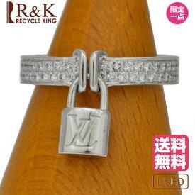 【送料無料】【中古】 LOUIS VUITTON ルイ・ヴィトン リング 指輪 K18WG 18金 バーグ ロックイット ダイヤモンド #49 9号 レディース メンズ おしゃれ かわいい ギフト プレゼント【SH】【BJ】