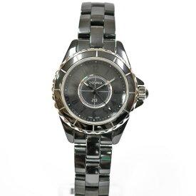 【送料無料】【中古】 CHANEL シャネル 腕時計 セラミック J12 ドレスウォッチ 黒 ブラック レディース メンズ おしゃれ かわいい ギフト プレゼント【SH】