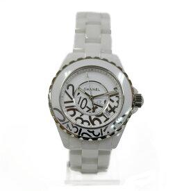 【送料無料】【中古】 CHANEL シャネル SS 腕時計 ステンレススチール セラミック J12 グラフィティ H5240 レディース メンズ おしゃれ かわいい ギフト プレゼント【SH】