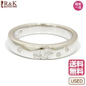 【送料無料】【中古】 STAR JEWELRY スタージュエリー K18WG リング 指輪 ダイヤモンド:6石 18金 K18ホワイトゴールド レディース メンズ おしゃれ かわいい ギフト プレゼント