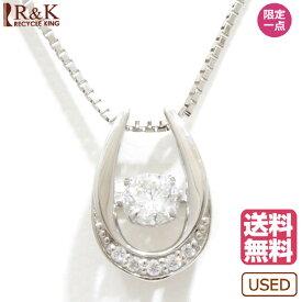 【送料無料】【中古】 Pt850 Pt900 ネックレス ダイヤモンド 0.22ct ダンシング ベネチアン Pt850プラチナ Pt900プラチナ シルバー レディース メンズ おしゃれ かわいい ギフト プレゼント【SH】