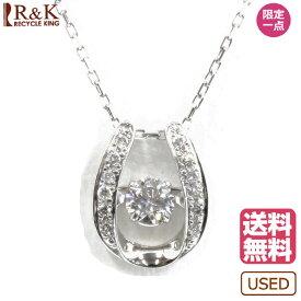 【送料無料】【中古】 Pt900 Pt850 ネックレス ダイヤモンド 0.27ct ダンシングジュエリー Pt900 Pt850 プラチナ シルバー レディース メンズ おしゃれ かわいい ギフト プレゼント