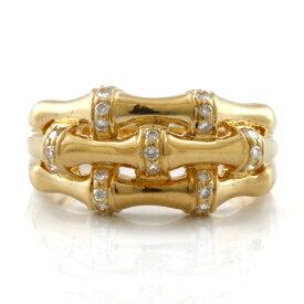 【送料無料】【中古】 K18 リング 指輪 ダイヤモンド 13号 18金 K18ゴールド レディース メンズ おしゃれ かわいい ギフト プレゼント