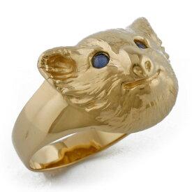 【送料無料】【中古】 K18 リング 指輪 13.5号 コアラ サファイア 18金 K18ゴールド レディース おしゃれ かわいい ギフト プレゼント