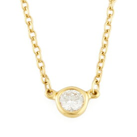 【送料無料】【中古】 TIFFANY&Co. ティファニー K18 ネックレス ダイヤモンド バイザヤード 18金 K18ゴールド レディース メンズ おしゃれ かわいい ギフト プレゼント
