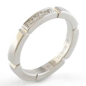 【送料無料】【中古】 CARTIER カルティエ K18WG リング 指輪 ダイヤモンド マイヨンパンテール #48 8号 18金 K18ホワイトゴールド レディース おしゃれ かわいい ギフト プレゼント