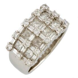 【送料無料】【中古】 no brand ノーブランド Pt900 リング 指輪 13号 ダイヤモンド 2.00ct Pt900プラチナ レディース メンズ おしゃれ かわいい ギフト プレゼント