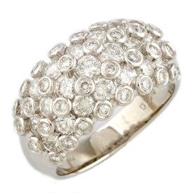 【送料無料】【中古】 no brand ノーブランド Pt900 リング 指輪 13号 ダイヤモンド 2.10ct Pt900プラチナ レディース メンズ おしゃれ かわいい ギフト プレゼント