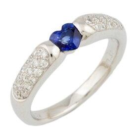 【送料無料】【中古】 K18WG リング 指輪 13.5号 サファイア 0.51ct ダイヤモンド 0.24ct ハート 18金 K18ホワイトゴールド レディース おしゃれ かわいい ギフト プレゼント