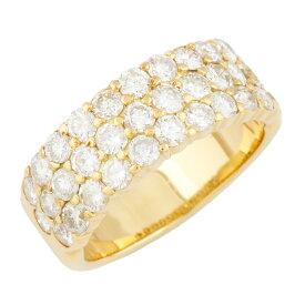 【送料無料】【中古】 K18 リング 指輪 ダイヤモンド D2.08 パヴェ 13号 18金 K18ゴールド レディース メンズ おしゃれ かわいい ギフト プレゼント