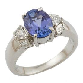 【送料無料】【中古】 Pt900 リング 指輪 13号 タンザナイト 1.81ct ダイヤモンド 0.24ct Pt900プラチナ レディース メンズ おしゃれ かわいい ギフト プレゼント