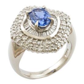 【送料無料】【中古】 Pt900 リング 指輪 13号 サファイア 1.59ct ダイヤモンド 1.00ct Pt900プラチナ レディース メンズ おしゃれ かわいい ギフト プレゼント