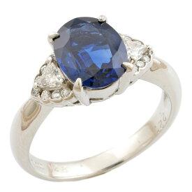 【送料無料】【中古】 Pt900 リング 指輪 13号 サファイア 2.21ct ダイヤモンド 0.28ct Pt900プラチナ レディース メンズ おしゃれ かわいい ギフト プレゼント