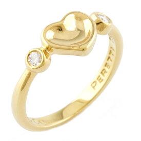 【送料無料】【中古】 TIFFANY&Co. ティファニー K18 リング 指輪 ハート ダイヤモンド 6.5号 18金 K18ゴールド レディース メンズ おしゃれ かわいい ギフト プレゼント