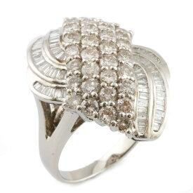 【送料無料】【中古】 Pt900 リング 指輪 ダイヤモンド ゴージャス 13号 Pt900プラチナ レディース メンズ おしゃれ かわいい ギフト プレゼント