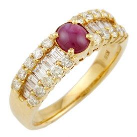 【送料無料】【中古】 K18 リング 指輪 13号 ルビー 0.75ct ダイヤモンド 0.97ct 18金 K18ゴールド レディース メンズ おしゃれ かわいい ギフト プレゼント