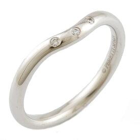 【送料無料】【中古】 TIFFANY&Co. ティファニー K18WG リング 指輪 ダイヤモンド カーブドバンド 9.5号 18金 K18ホワイトゴールド レディース メンズ おしゃれ かわいい ギフト プレゼント
