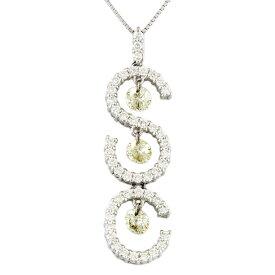 【送料無料】【中古】 Pt900 ネックレス ダイヤモンド 1.78ct Pt900プラチナ レディース メンズ おしゃれ かわいい ギフト プレゼント