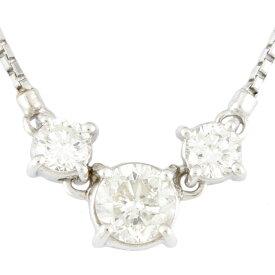 【送料無料】【中古】 Pt900 ネックレス ダイヤモンド 1.00ct Pt900プラチナ レディース メンズ おしゃれ かわいい ギフト プレゼント