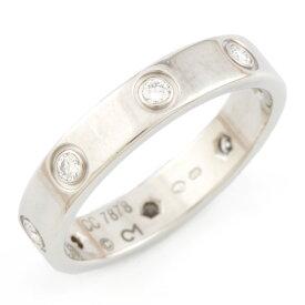 【送料無料】【中古】 CARTIER カルティエ K18WG リング 指輪 ダイヤモンド ミニラブ フルダイヤ #53 13号 18金 K18ホワイトゴールド レディース メンズ おしゃれ かわいい ギフト プレゼント