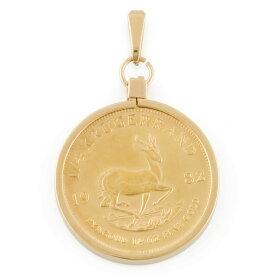 【送料無料】【中古】 K22 K18 コインペンダント 南アフリカ クルーガーランド 1/4オンス 1982 ペンダントトップ レディース おしゃれ かわいい おすすめ ギフト プレゼント 22金 K22ゴールド