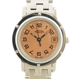 【送料無料】【中古】 HERMES エルメス SS 腕時計 クリッパー シルバー レディース おしゃれ かわいい おすすめ ギフト プレゼント ステンレススチール