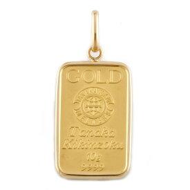 【送料無料】【中古】 K24 K18 コインペンダント 田中基金属 インゴット 10g ペンダントトップ ゴールド レディース メンズ おしゃれ おすすめ ギフト プレゼント 24金 K24ゴールド K18ゴールド