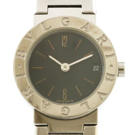 【送料無料】【中古】 BVLGARI ブルガリ SS 腕時計 ブルガリブルガリ BBS23SS シルバー ブラック レディース おしゃれ かわいい おすすめ ギフト プレゼント ステンレススチール