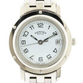 【送料無料】【中古】 HERMES エルメス SS 腕時計 クリッパー CL4.210 シルバー レディース おしゃれ かわいい おすすめ ギフト プレゼント ステンレススチール