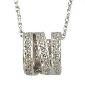 【送料無料】【中古】 4℃ ヨンドシー Pt850 ネックレス ダイヤモンド サークル シルバー レディース おしゃれ かわいい おすすめ ギフト プレゼント Pt850プラチナ【BJ】